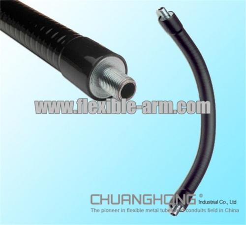 Flexible arm gooseneck antenna pipe